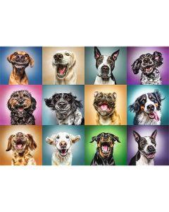 Funny Dogs puslespil 1000 brikker