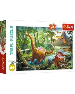 Dinosaurer puslespil 60 brikker