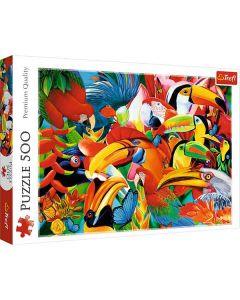 Colorful birds puslespil 500 brikker