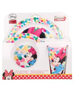 """Minnie Mouse spiseset - """"Colorfull"""""""