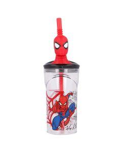 Spidermankop med sugerør 3D