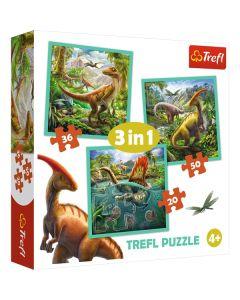 Dinosaur puslespil 3 i 1