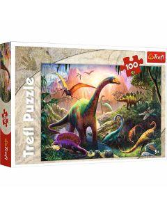 Dinosaurer puslespil 100 brikker