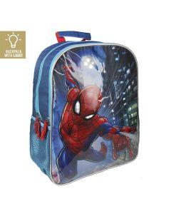 Spiderman skoletaske LED