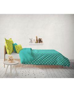 Colorful Sengetøj aqua blå