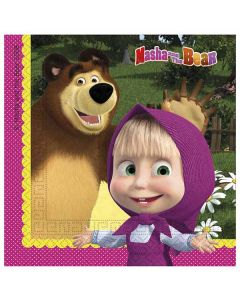Masha og bjørnen Servietter