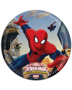 Spiderman tallerkner 8 stk