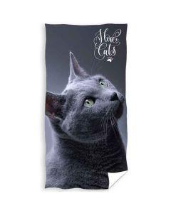 Kat håndklæde